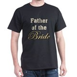 Father of Bride Black T-Shirt