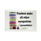 &quot;Teacher Occupations&quot; Rectangle Magnet