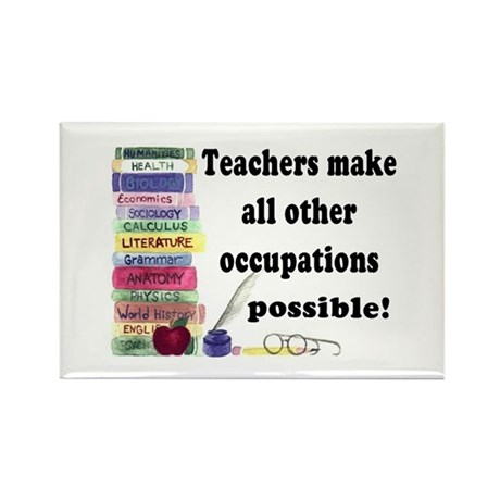 &amp;quot;Teacher Occupations&amp;quot; Rectangle Magnet