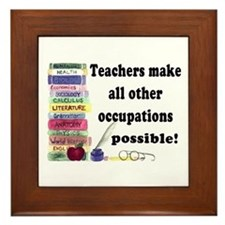 """Teacher Occupations"" Framed Tile"