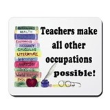 """Teacher Occupations"" Mousepad"