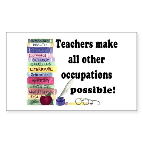"""Teacher Occupations"" Rectangle Sticker"