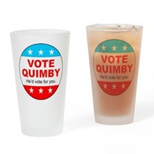 Vote Quimby Drinking Glass