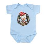 Christmas Penguin Holiday Wreath Infant Bodysuit
