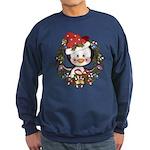 Christmas Penguin Holiday Wreath Sweatshirt (dark)
