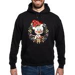 Christmas Penguin Holiday Wreath Hoodie (dark)