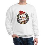 Christmas Penguin Holiday Wreath Sweatshirt