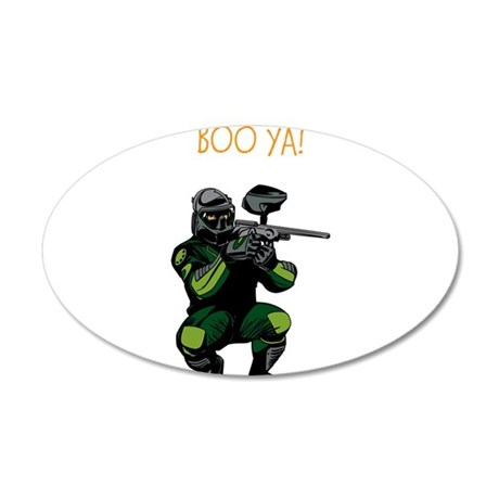 BOO YA Paintballer 35x21 Oval Wall Decal