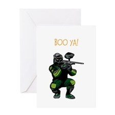 BOO YA Paintballer Greeting Card