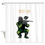 BOO YA Paintballer Shower Curtain