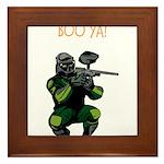 BOO YA Paintballer Framed Tile