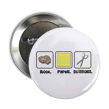 "Rock Paper Scissors 2.25"" Button (100 pack)"
