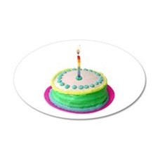 Colored Cake Wall Decal