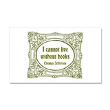 Without Books (green) Car Magnet 20 x 12