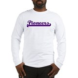 Purple Pioneers Logo Long Sleeve T-Shirt