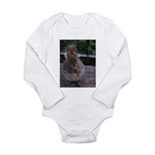 Cheetos for the squirrel Long Sleeve Infant Bodysu