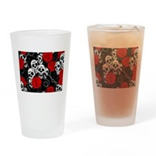Cool Kids Skulls and Roses Designs Drinking Glass
