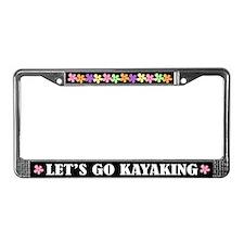 Kayaking License Plate Frame Gift