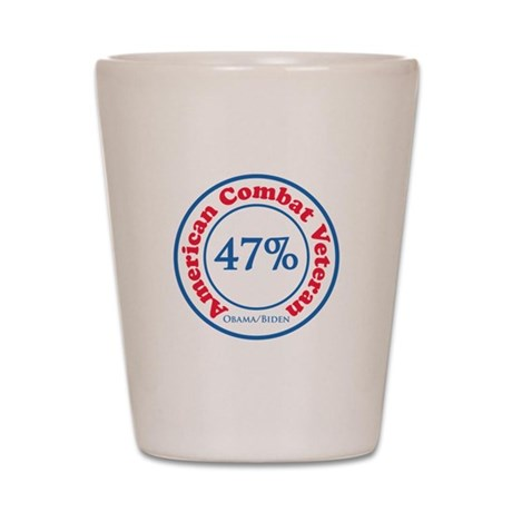 47% Combat Veteran Shot Glass