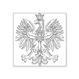 Polish Eagle (Polski Orzel) Rectangle Sticker