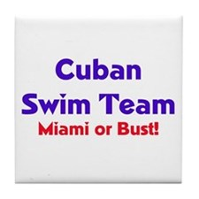 Cuban Swim Team Tile Coaster