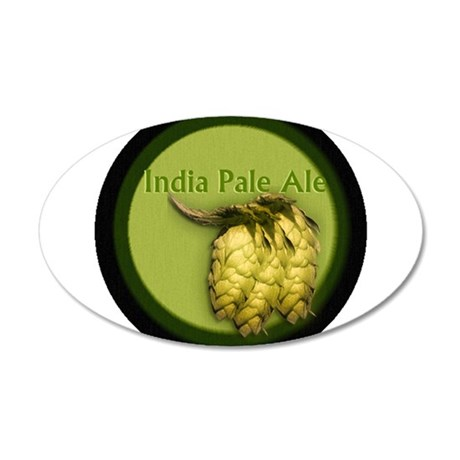 India Pale Ale / IPA 20x12 Oval Wall Decal