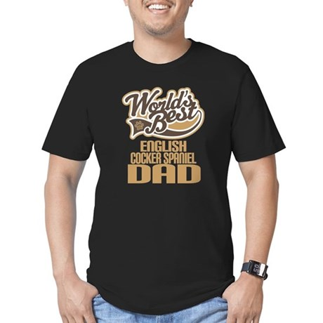 English Cocker Spaniel Dad Men's Fitted T-Shirt (d