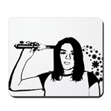 """curling iron suicide"" mouse pad"