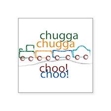 """Chugga Chugga Choo Choo Square Sticker 3"""" x 3"""""""