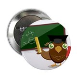 "teacher owl 2.25"" Button (10 pack)"