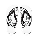 Washington State Black Flip Flops