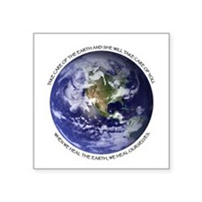 Planet Earth Oval Sticker