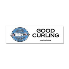 Long Island Curling Club Car Magnet 10 x 3