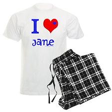 "Personalised Men's Pyjamas ""I Love"""