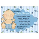 Baby Boy Shower Invitation 5x7 Flat Cards