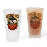 Happy Halloween Bichon Frise.png Drinking Glass