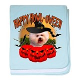 Happy Halloween Bichon Frise.png baby blanket