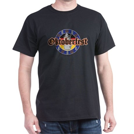 Oktoberfest Beer and Pretzels Dark T-Shirt