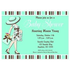 Teal Baby Shower Invite Invitations