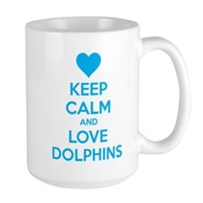 Keep calm and love dolphins Mug