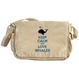 Keep calm and love whales Messenger Bag
