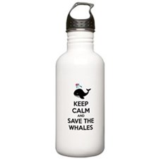Keep calm and save the whales Water Bottle