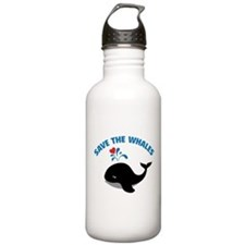 Save the whales Sports Water Bottle