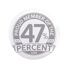 "Member 47 Percent 3.5"" Button"