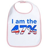 I am the 47% with Obama Logo Bib