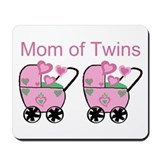 Mom of Twins (Girls) Mousepad