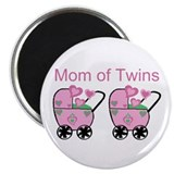 Mom of Twins (Girls) Magnet
