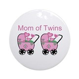 Mom of Twins (Girls) Ornament (Round)