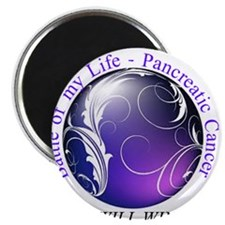 "Pancreatic Battle Logo 2.25"" Magnet (100 pack)"