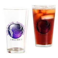 Pancreatic Battle Logo Drinking Glass